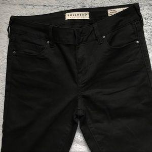 Black denim BULLHEAD PACSun jeans black mid-rise